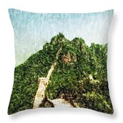 Great Wall 0033 - Pastel Pencil 1 Sl Throw Pillow