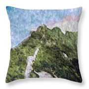 Great Wall 0033 - Watercolor 2 Sl Throw Pillow