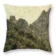Great Wall 0043 - Colored Photo 2 Throw Pillow