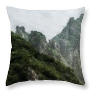 Great Wall 0043 - Embossed Hp Throw Pillow