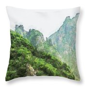 Great Wall 0043 - Oil Stain Sl Throw Pillow