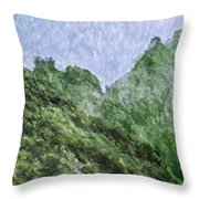 Great Wall 0043 -  Watercolor 2 Sl Throw Pillow