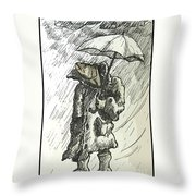 Great Weather For A Walk Two Throw Pillow