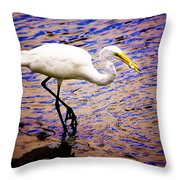 Great White Heron Throw Pillow