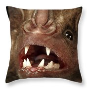 Greater Spear-nosed Bat Throw Pillow