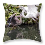 Greats Collide Throw Pillow