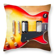 Greco Guitar Body Throw Pillow