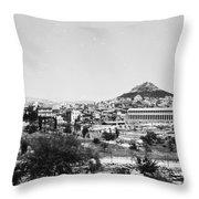 Greece Athens Agora Throw Pillow