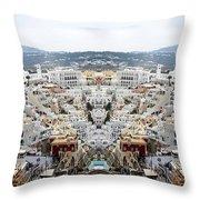 Greece Double Vision #51 Throw Pillow
