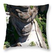 Greece-meteora Throw Pillow