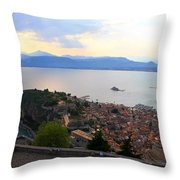 Greece-nafplio Castle Throw Pillow