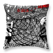 Greed Is A Human Issue Throw Pillow