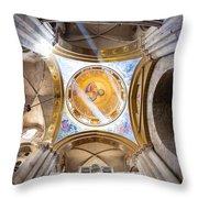 Greek Chapel Throw Pillow
