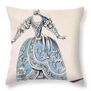 Greek Costume For The Chorus Throw Pillow