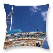 Greek Fishing Boat Throw Pillow