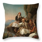 Greek Freedom Fighters Throw Pillow