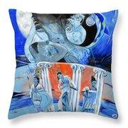 Greek Goddesses Throw Pillow