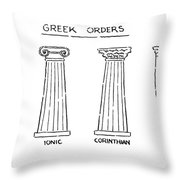 Greek Orders Throw Pillow
