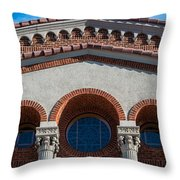 Greek Orthodox Church Arches Throw Pillow
