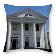 Greek Revival House - New London Ct Throw Pillow