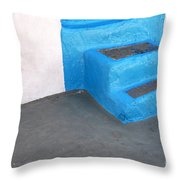Greek Stairs Throw Pillow