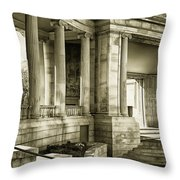 Greek Theatre 7 Golden Age Throw Pillow by Angelina Vick