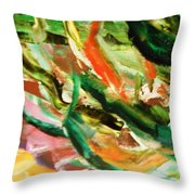 Green 5  Throw Pillow