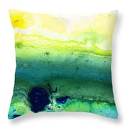 Green Abstract Art - Life Song - By Sharon Cummings Throw Pillow