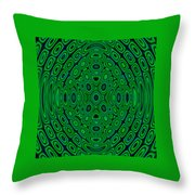Green Abstract Throw Pillow
