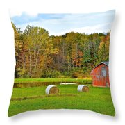 Green Acres Throw Pillow