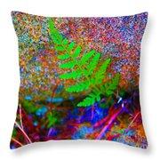 Green - Against The Grain Throw Pillow