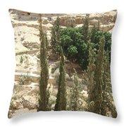 Green Among Cliffs Throw Pillow