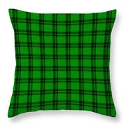 Green And Black  Plaid Cloth Background Throw Pillow