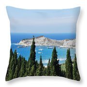 Green And Blue 1 Throw Pillow