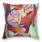 Green And Brown Dog Throw Pillow