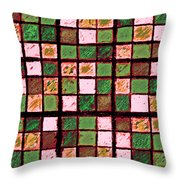 Green And Brown Sudoku Throw Pillow