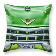 Green And Chrome-hdr Throw Pillow