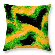 Green And Gold Pattern Abstract Throw Pillow