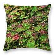 Green And Purple In Nature Throw Pillow