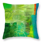 Green And Red 5 Throw Pillow