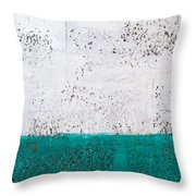 Green And White Wall Texture Throw Pillow