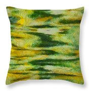 Green And Yellow Abstract Throw Pillow