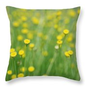 Green And Yellow Vintage Throw Pillow