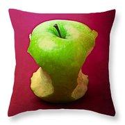 Green Apple Core 2 Throw Pillow