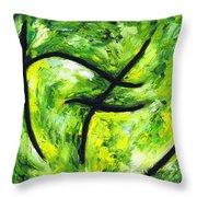 Green Apple Throw Pillow by Kamil Swiatek
