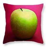 Green Apple Whole 2 Throw Pillow