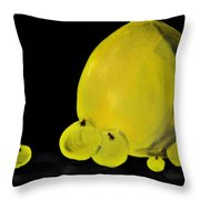 Apple And Vase  Throw Pillow