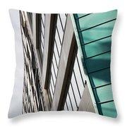 Green Architectural Detail Throw Pillow