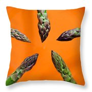 Green Asparagus - Fresh Food Photography Throw Pillow