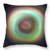 Green Aura Spint Art  Throw Pillow